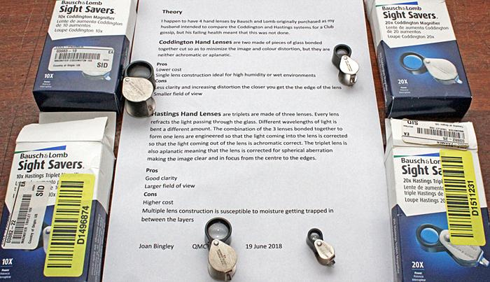 Joan Bingley's Bausch & Lomb lenses
