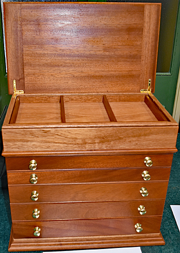 John Birds' microscopical and slide preparation storage cabinet
