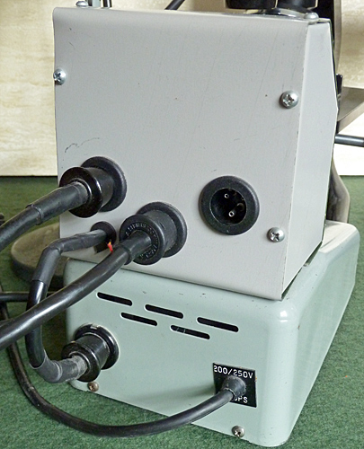 Rear of power supply for Watson lamps