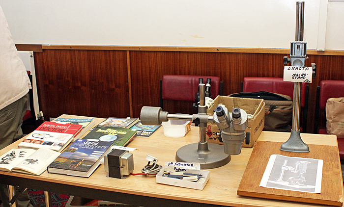 Geoff Mould's sales table