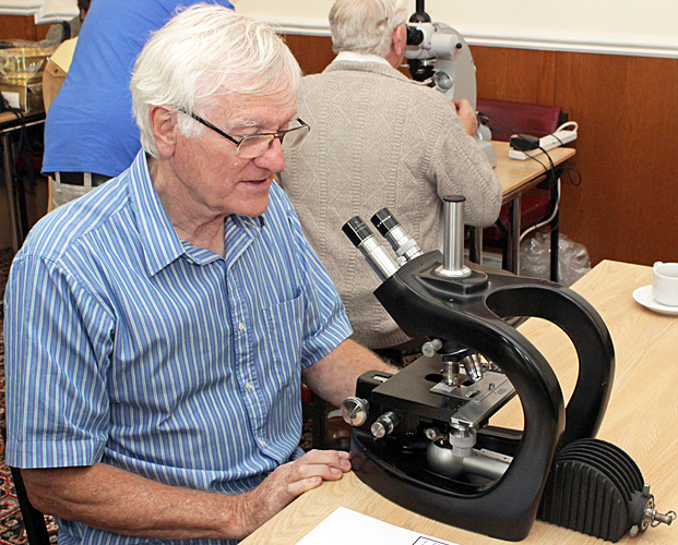 Ray Sloss with Steindorff Microbe Hunter