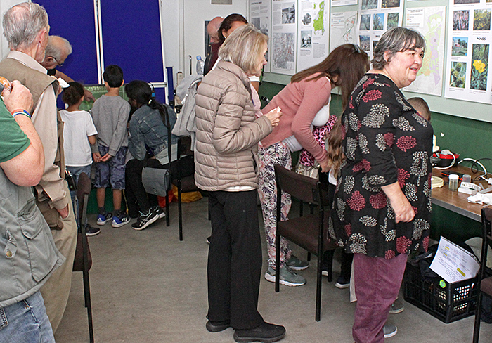 Visitors in the Information Centre