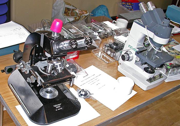 Les Larkman's microscopes
