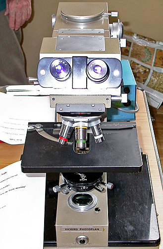 Vickers Photoplan microscope