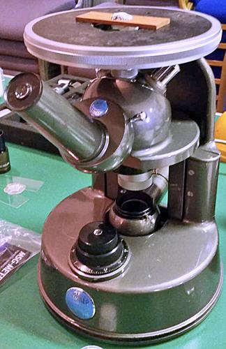 Baker Metalette microscope