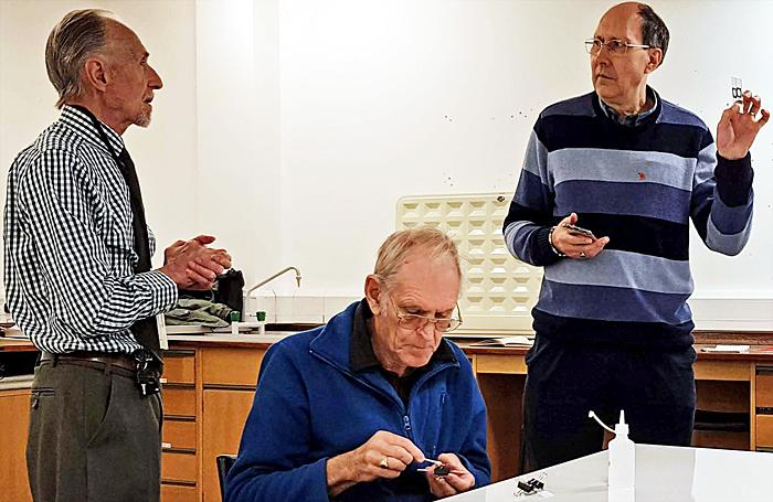 Dennis Fullwood, Lewis Woolnough and Chris Thomas