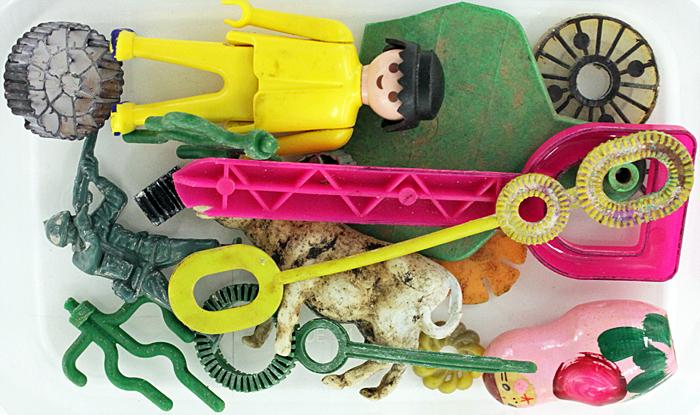 Plastic flotsam