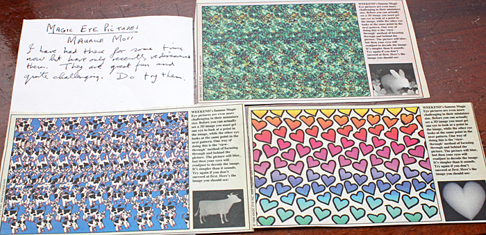 Magic Eye 3D pictures