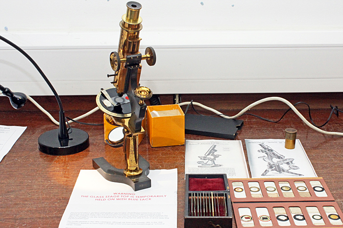 Watson polarising microscope
