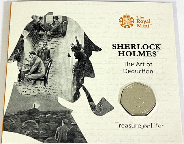 Sherlock Holmes 50 pence coin