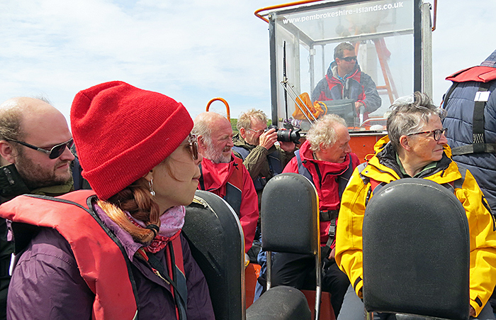 Group on the boat