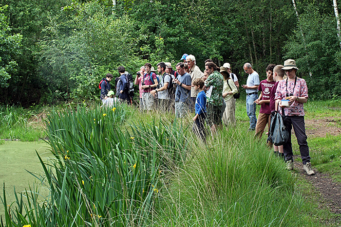 Group at Hookhamslade Pond