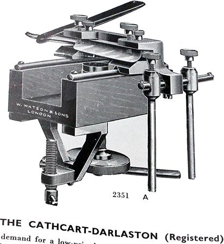 Cathcart-Darlaston microtome in Watson catalogue