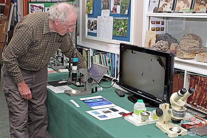 Grenham Ireland with his exhibit