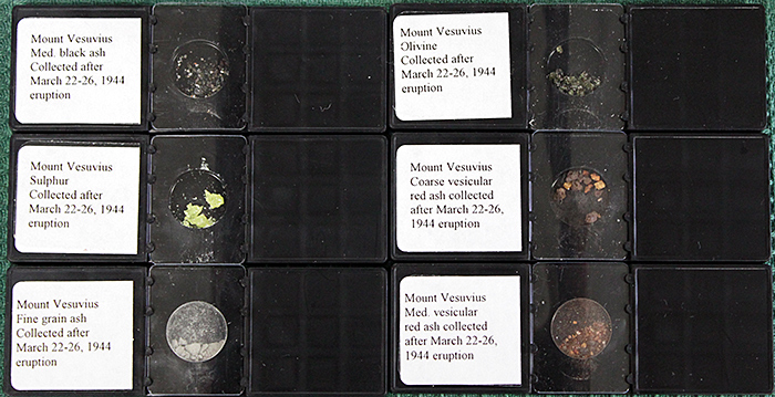 Dust from the 1944 Mount Vesuvius eruption