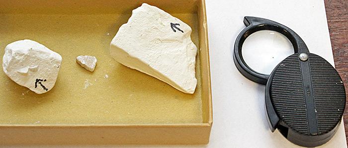 Pam Hamer's chalk samples