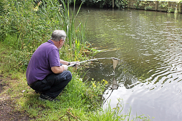 Tony Pattinson collecting with his plankton net