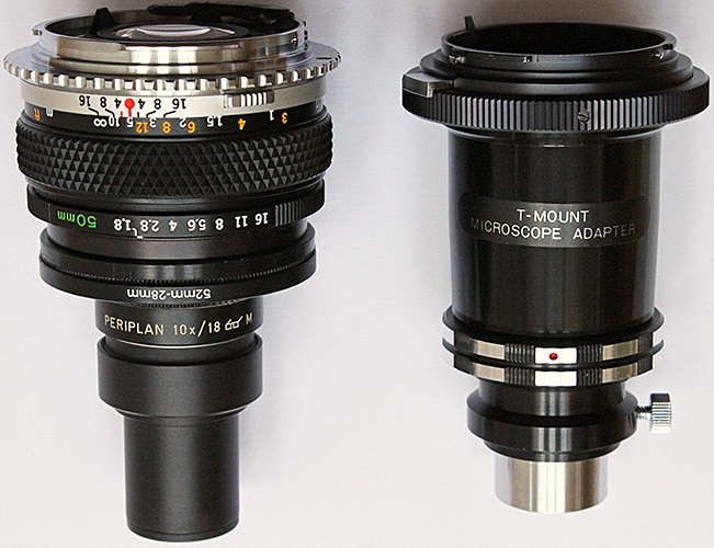 Afocal coupling and eyepiece projection adapters