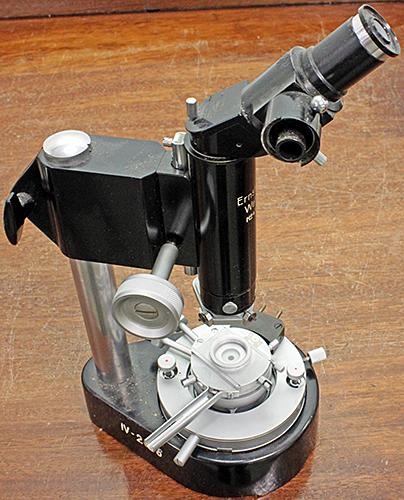 Leitz melting point measuring microscope