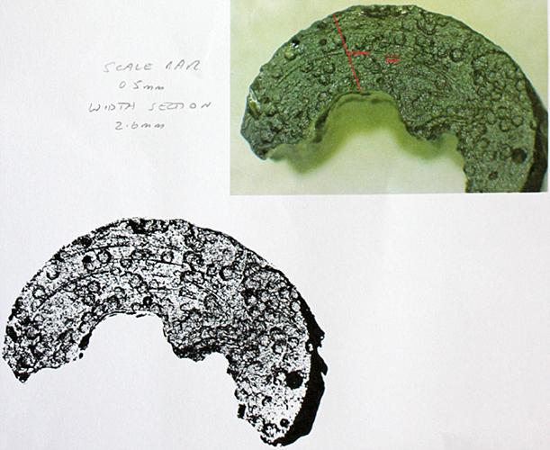 Photographs of moldavite