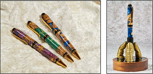 Wood and resin pens – Pen holder