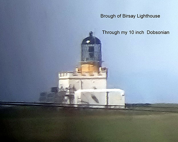 Birsay Island using Dobsonian telescope