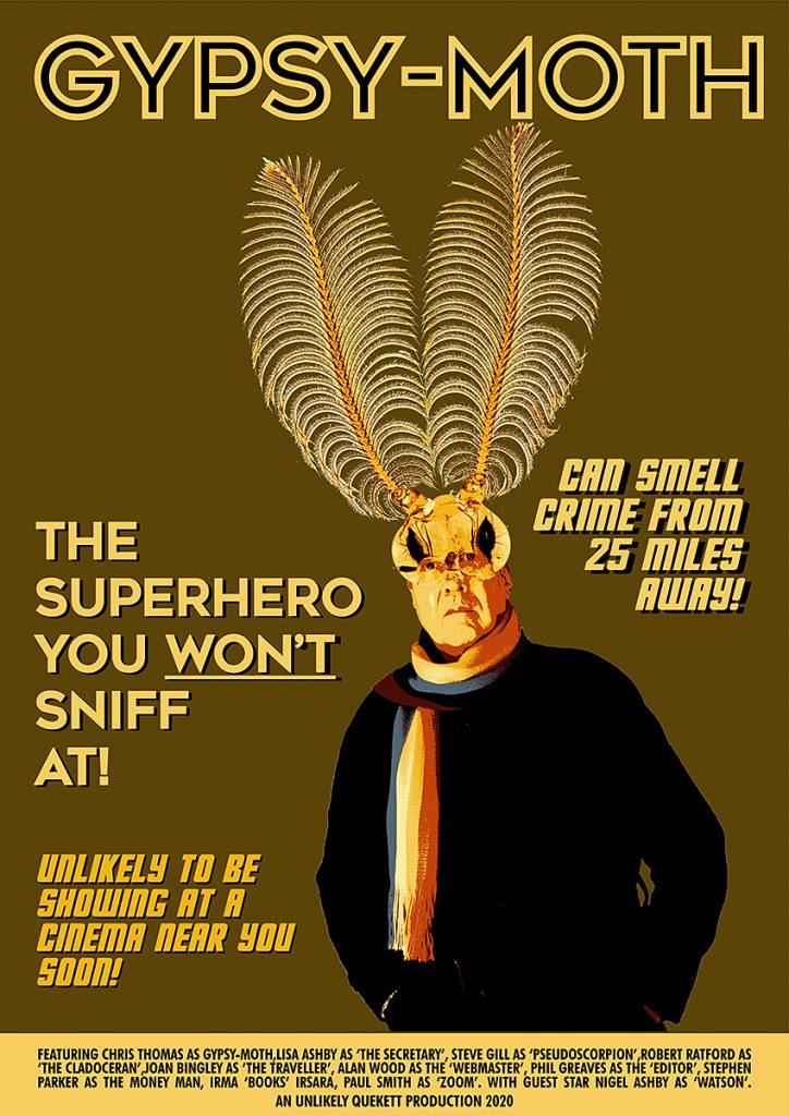 Gypsy moth superhero poster