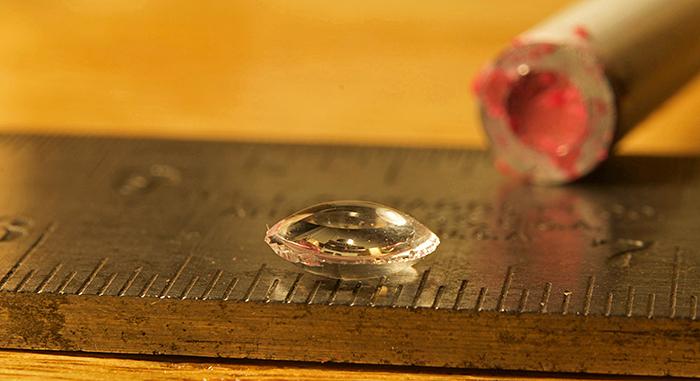 Second lens, on ruler