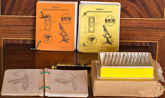 Current examples of boxes, slides and notebooks