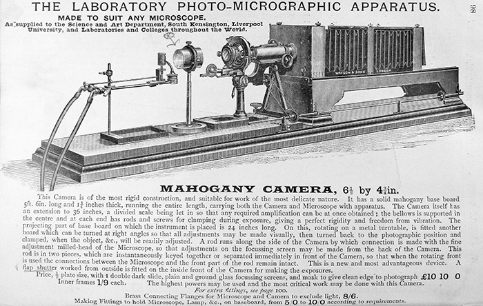 Watson Photo-Micrographic Apparatus advertisement