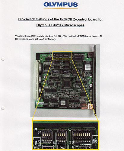 Olympus BX2 dip-switch settings
