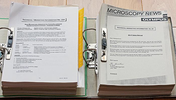 Olympus Technical / Marketing Information documents