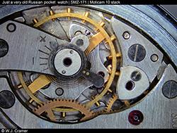 Old Russian pocket watch