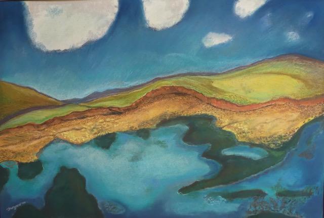 The Sandstone Cliff, 1964, Pastel, by Gwyneth Thurgood
