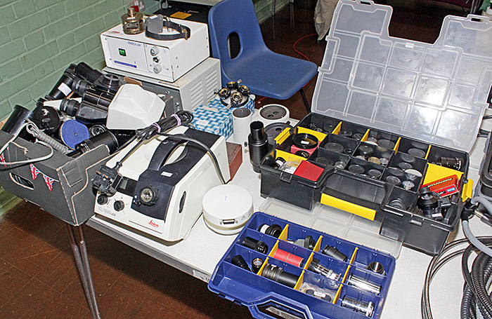 John Millham's objectives, eyepieces, camera adapters, fibre optics and accessories
