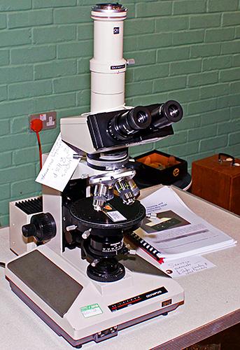 Olympus BHSP polarising microscope