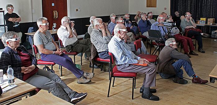 Audience for John Ward's talk