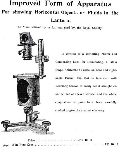 Horizontal microscope lantern