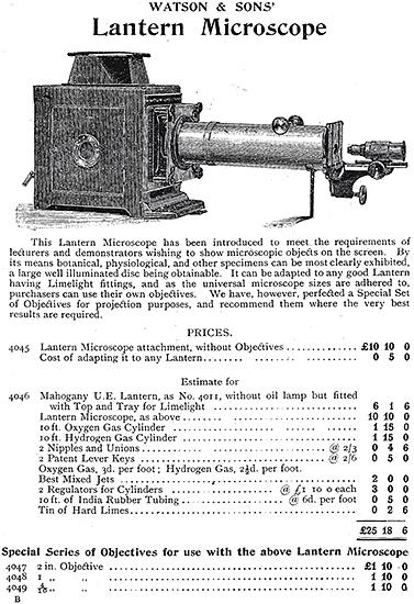 Lantern microscope