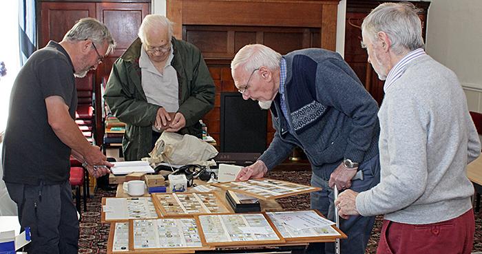 Mike Samworth, John Charlton, John Birds and Terry Hope