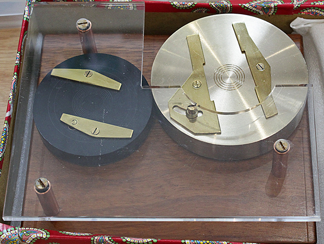 Ringing table presented to Peter Evennett by his students